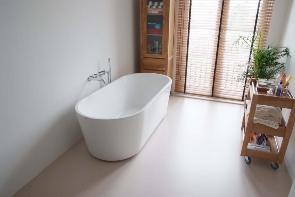 Een gietvloer in de badkamer | Gietvloer Gorinchem